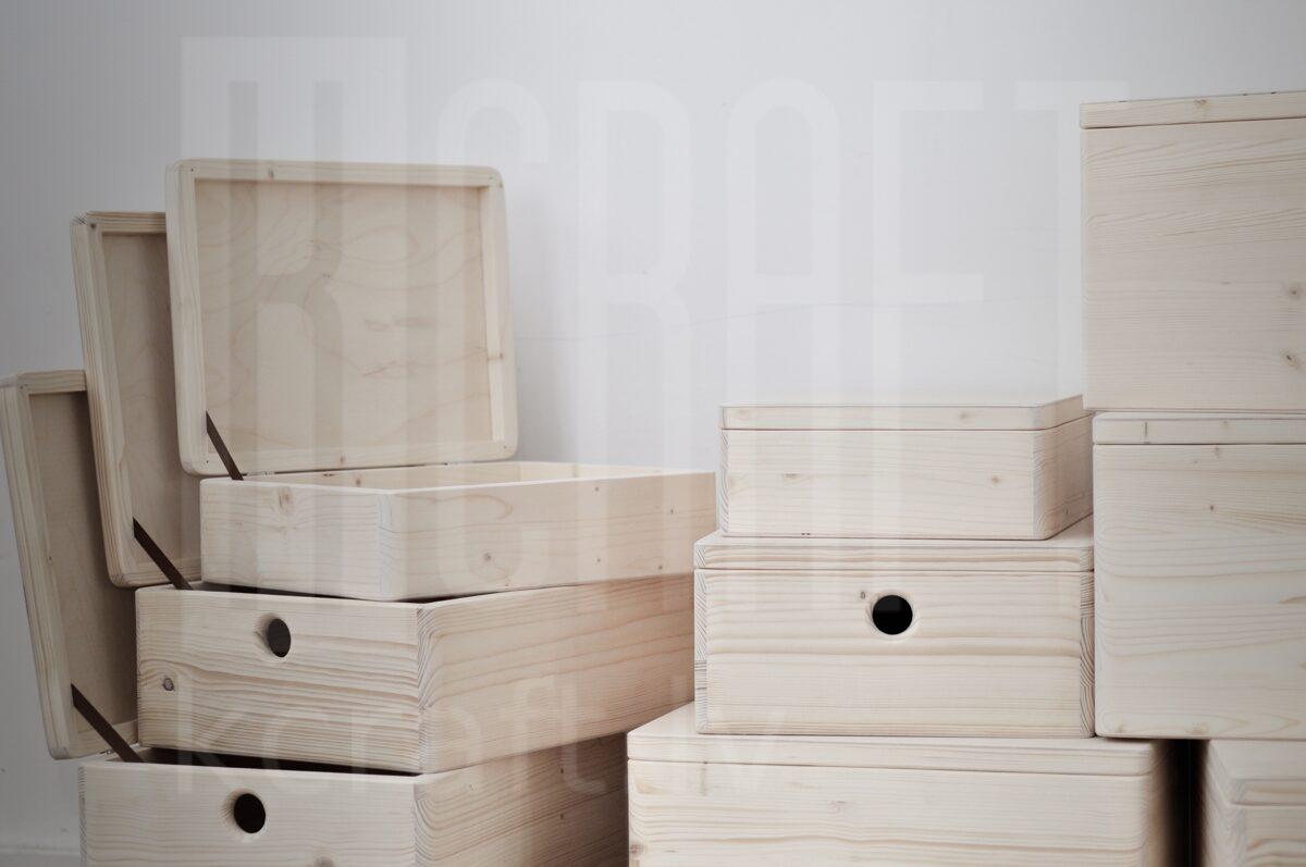 Koka kaste ar vāku XL, 40x30x23cm
