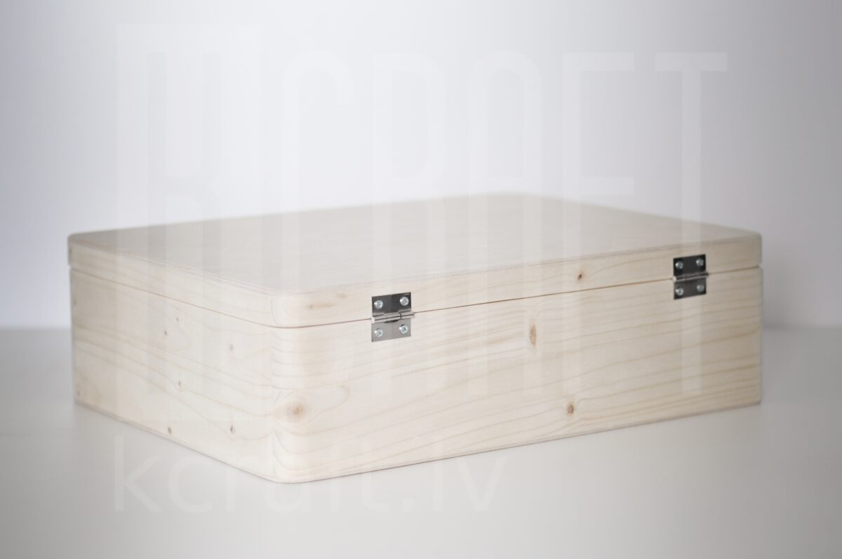 Koka kaste ar vāku M, 34x25x10cm
