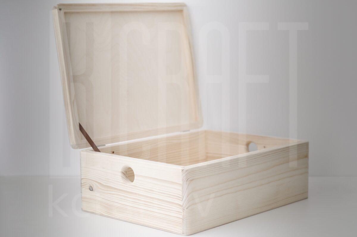 Koka kaste ar vāku L, 40x30x14cm