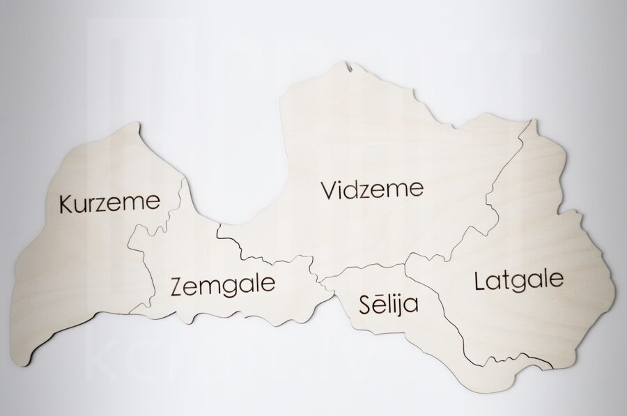 "Puzle ""Latvijas karte"""